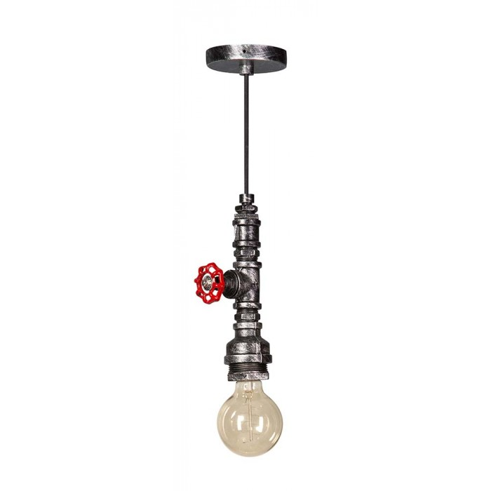 Hanglamp | Brandweer Zwart/Zilver E27
