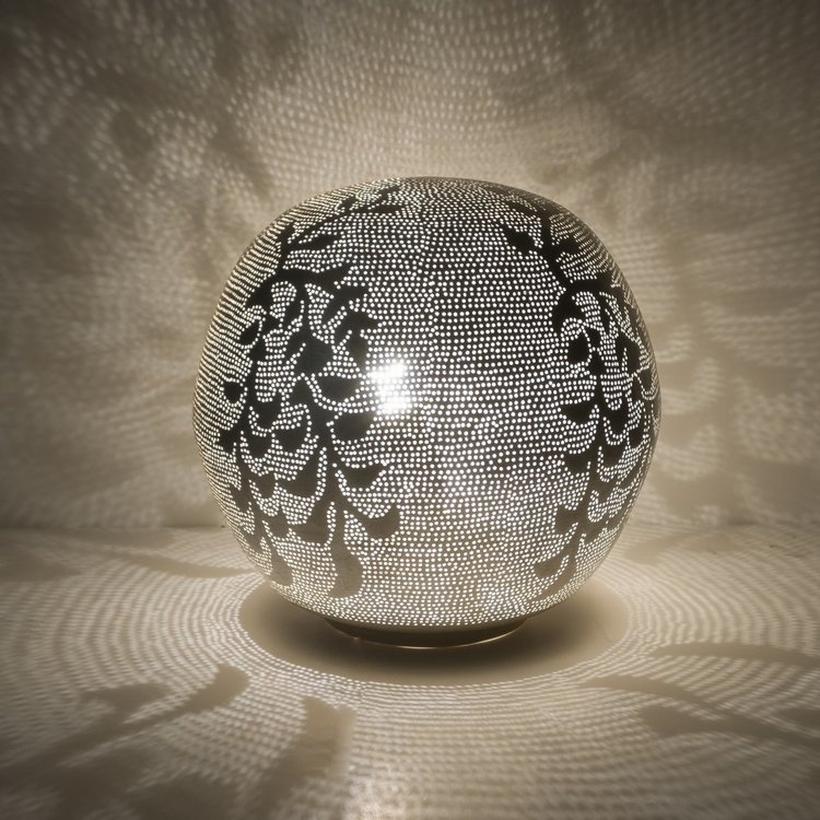 Tafellamp Ball Blossom Medium Silver