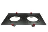 Led inbouw spot armatuur - 2x AR111ES111 Zwart Vierkant  Richtbaar