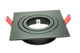 Led Inbouw Spot Armatuur 50mm Vierkant Zwart  Richtbaar
