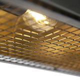 Vintage langwerpige hanglamp antiek zink 4-lichts - Barrelo detail