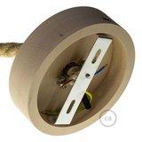 Houten plafondkap kit | voor Touwsnoer XL | Naturel_