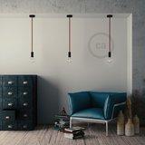 Houten plafondkap kit   voor Touwsnoer XL   Zwart_