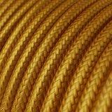 Strijkijzersnoer Goud - viscose   10cm_