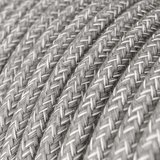 Strijkijzersnoer grijs - natuurlijk linnen | per 10 cm