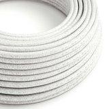 strijkijzersnoer wit glitter rol