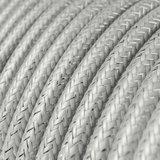 Strijkijzersnoer zilver glitter ingezoomd