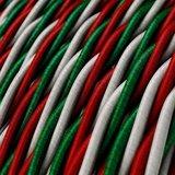 strijkijzersnoer italiaanse vlag ingezoomd