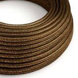 strijkijzersnoer bruin glitter rol