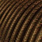 strijkijzersnoer bruin glitter