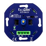 ECODIM LED Dimmer 0-300 Watt | Fase aan- en afsnijding | Universeel_