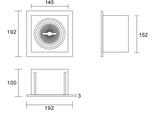Led inbouw spot armatuur - 1x AR111 Wit | Verzonken