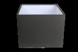 Tafellamp Teak Onbehandeld 30cm vierkante kap antraciet