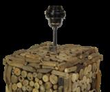 Tafellamp Driftwood Vierkant 20x20x40cm Fitting