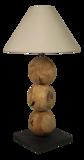 Tafellamp 3Ball Teak 60cm