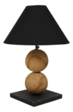 Tafellamp 2Ball Teak 50cm