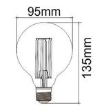 LED Globe Spiraal E27 3W 2200K (G95) | Dimbaar_