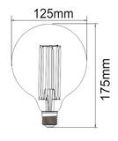 LED Globe Spiraal E27 3W 2200K (G125) | Dimbaar_