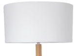 Vloerlamp Aleo 175Cm | Ronde witte kap_