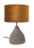 Tafellamp Hamden Beton | Velours Brons Lampenkap | Van De Heg