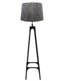 Vloerlamp Gladiator Klinknagels 163Cm | Grijze lichtdoorlatende kap