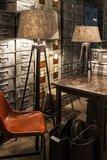 Tafellamp Gladiator Klinknagels 68Cm | Grijze Conische Kap