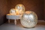 Zenza tafellampen Ball Circles Small Silver