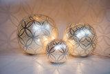 Ball Circles XL Silver Zenza Tafellamp group