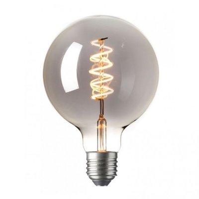 LED Kooldraadlamp Globe Curl Titanium | Ø125mm E27 4W  | Dimbaar