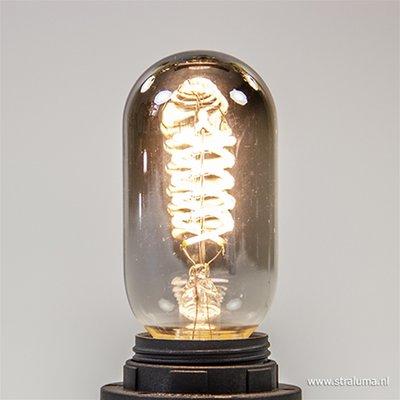 LED Kooldraadlamp Curl Titanium T45 | Ø45mm E27 4W | Dimbaar