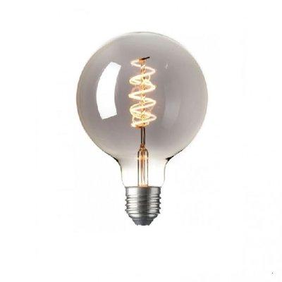 LED Kooldraadlamp Globe Curl Titanium | Ø95mm E27 4W | Dimbaar