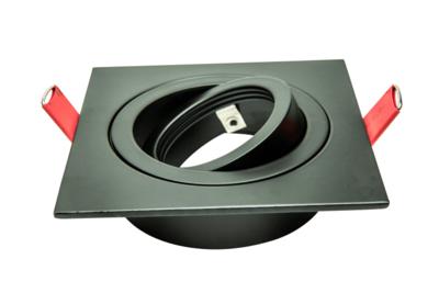 Led Inbouw Spot Armatuur 50mm Vierkant Zwart | Richtbaar