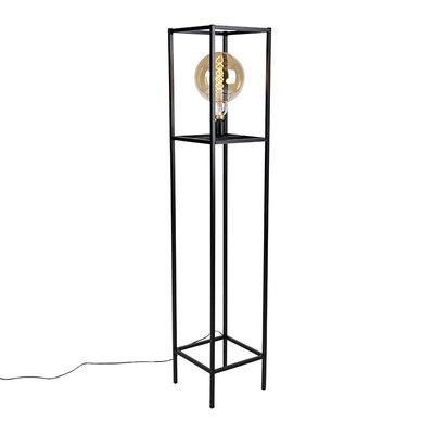 Vloerlamp Industrieel 1-lichts E27 zwart - Big Cage