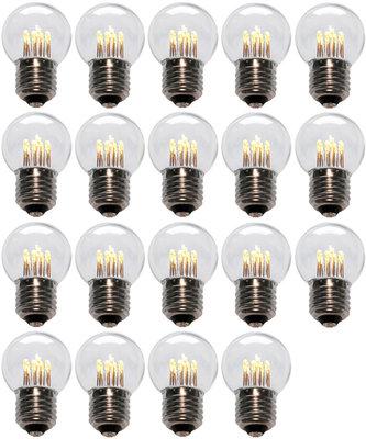 19 stuks LED Lamp E27 1W G45 Warm-wit 2700K