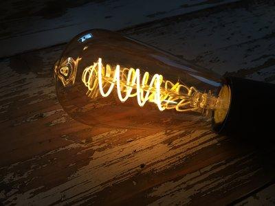 Vintage led lamp met gedraaid filament ST64 - GOLD