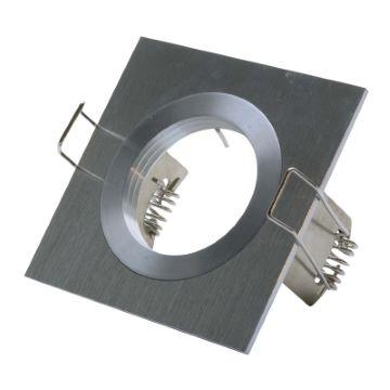 Led inbouw spot armatuur - aluminium vierkant ECO
