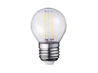 LED Filament kleine bol E27 2W 2200K Helder (G45) | Dimbaar