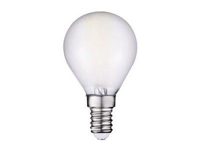 LED Filament kleine bol E14 2W 2700K Mat (G45)