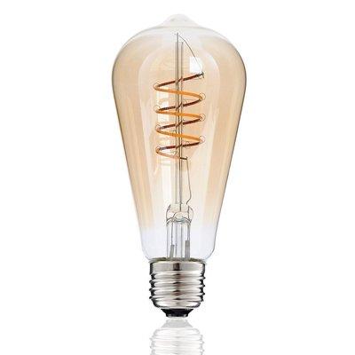 LED Edison Spiraal E27 3W 2200K (ST64) | Dimbaar