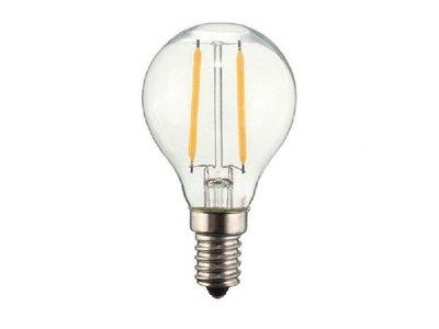 LED Filament kleine bol E14 2W 2200K Helder (G45)