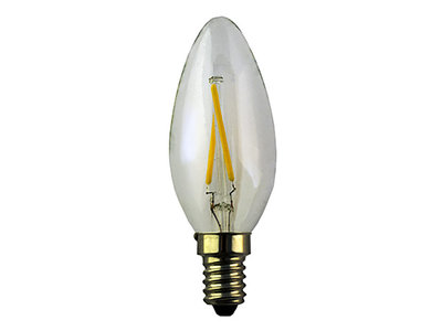 LED Filament Kaarslamp E14 2W 2200k Helder