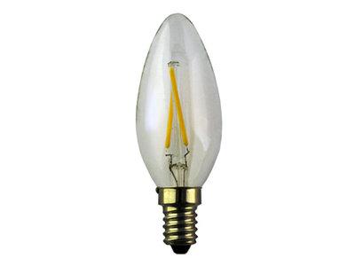 LED Filament Kaarslamp E14 2W 2700k Helder