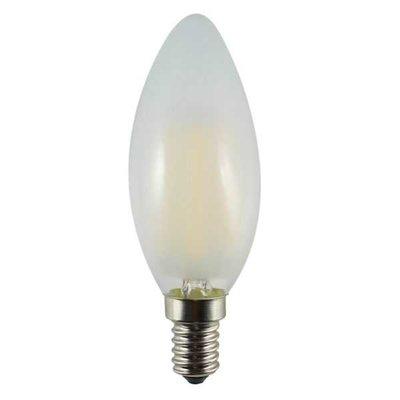 LED Filament Kaarslamp E14 4W 2700k Mat