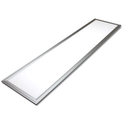 LED Paneel rechthoekig 30x120cm 45W 3000K - Aluminium Rand