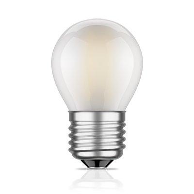 LED Filament kleine bol E27 4W 2700K Mat (G45)