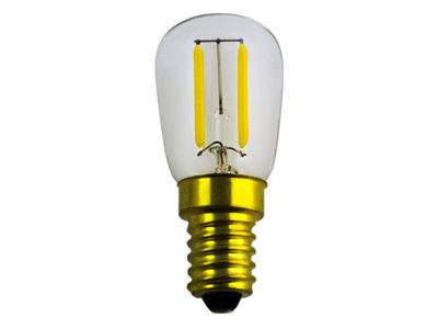 LED Filament koelkast lamp E14 2W 2200K HELDER (ST26)