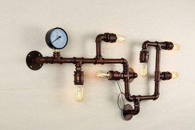 Industriële Wandlamp Buizen - Groot