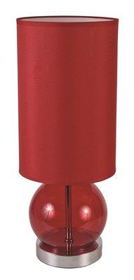 Schemerlamp Bol Rood Glas 45cm
