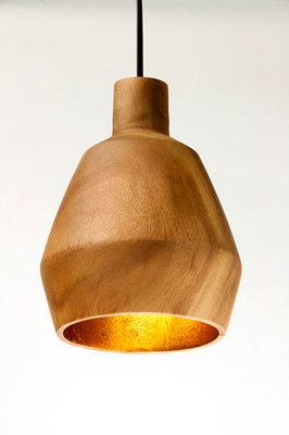 Hanglamp Hout Acacia Octa Naturel/Goudblad