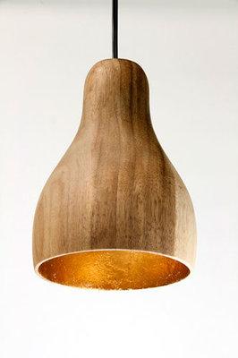 Hanglamp Hout Acacia Sixty Naturel/Goudblad